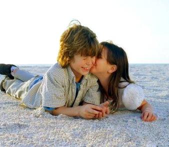 Quando não se tem o que falar, vá lá e dê um beijo!