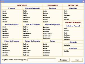 Conjugação do verbo ILUDIR (clique para ampliar)