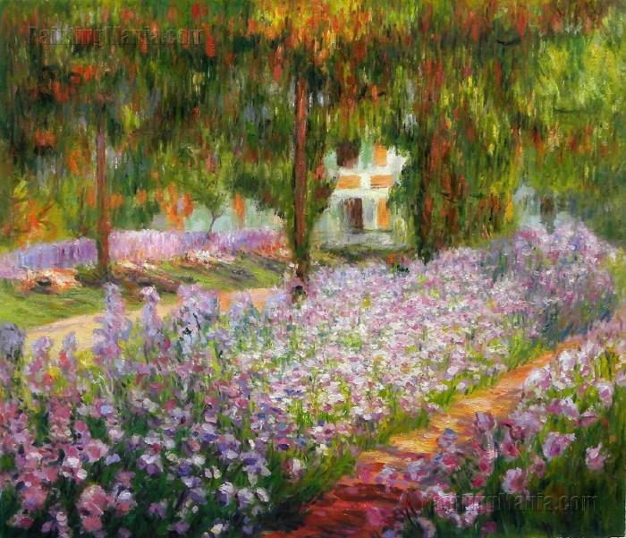 Íris em Monets Jardim, Claude Monet