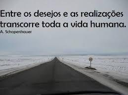 Schopenhauer - Entre os Desejos e realizações, transcorre a vida humana.